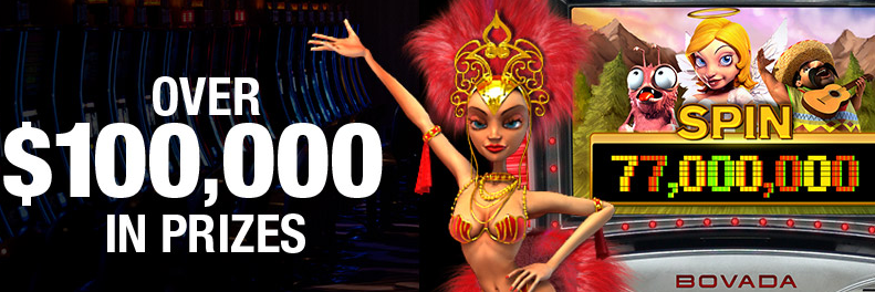 77 Million Slot Spins Promo at Bovada Casino