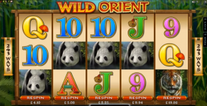 Wild Orient Slot Respin Feature