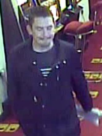 Slot machine thief caught on camera