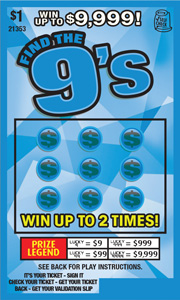 Find the Nines Online Scratch Cards Canada