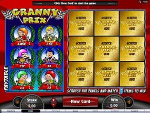 Granny Prix Online Scratchies