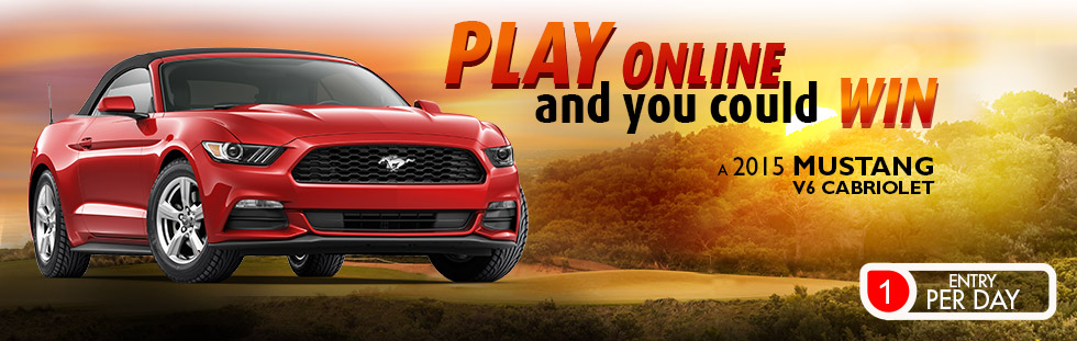 Win a 2015 Mustang V6 Cabriolet at Espacejeux