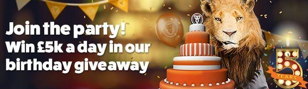 LeoVegas 5th Birthday Mobile Casino Promotion