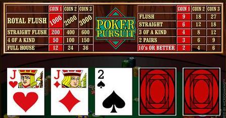 Poker Pursuit Tablet Video Poker