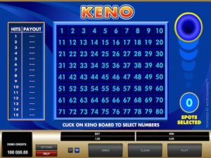 Best and Worst Keno Bets