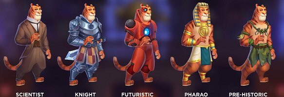 Time Travel Tigers Slot Characters