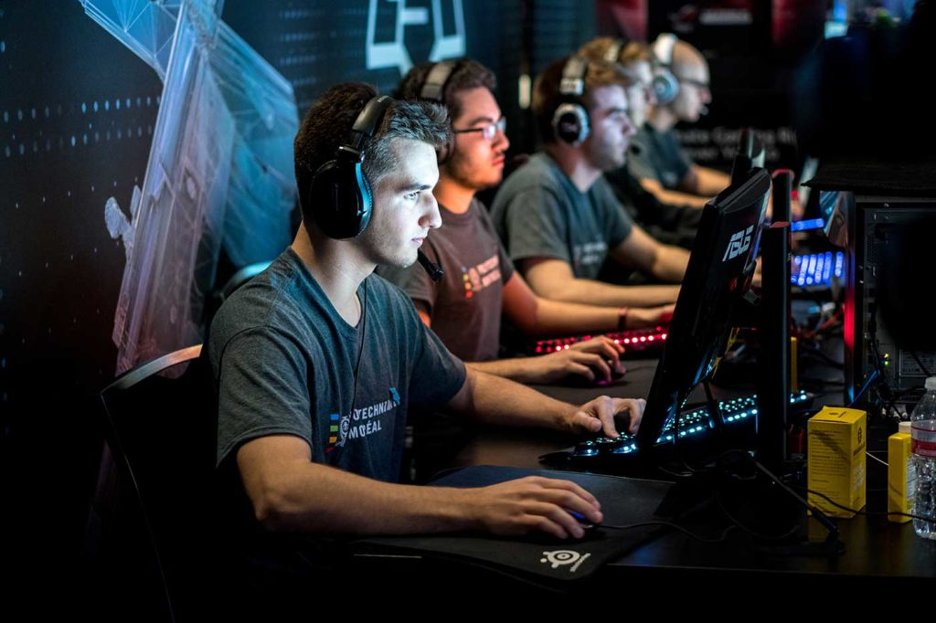 Teams Compete in eSports Tournaments
