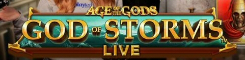 Playtech Live Casino Slots Age of the Gods: God of Storms Live