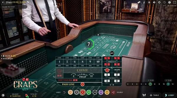 Live Dealer Craps Evolution Gaming